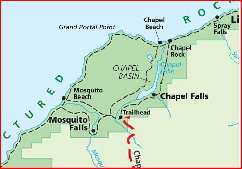 Pictured Rocks Michigan Map.Pictured Rocks National Lakeshore