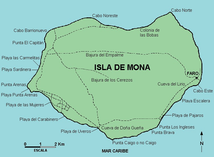 Isla De Mona Map